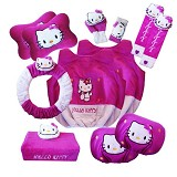 NEWGROSIR Bantal Mobil 8 in 1 Ext Hello Kitty Ungu [BM8EXT21] - Organizer Mobil
